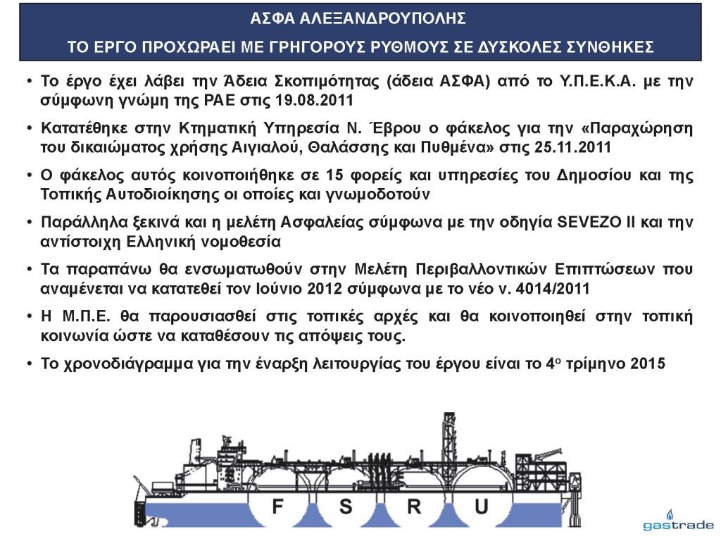 Παρουσίαση κ. Σιφναίου για την επένδυση LNG (Slide 12)