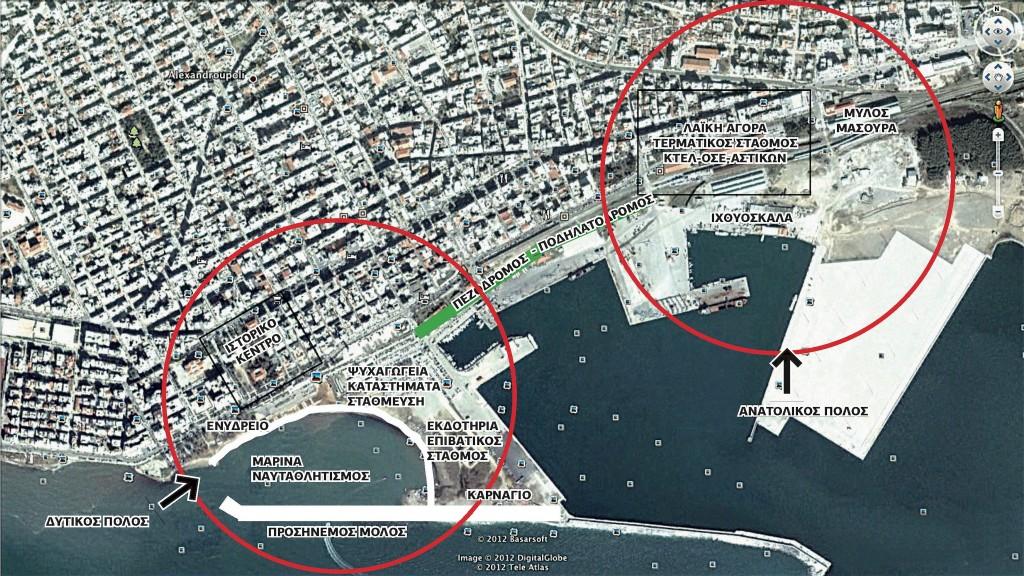 Τοπογραφικό Πρότασης Λασκαράκη για την Ανάπλαση της Παραλιακής Ζώνης