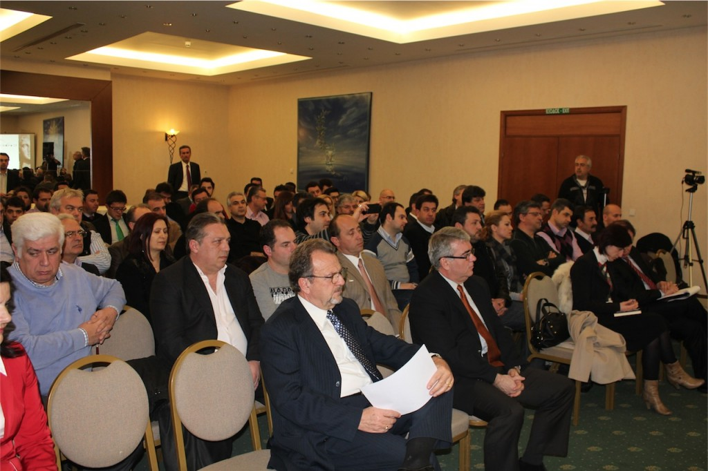 Κοινό στην εκδήλωση του Χρηματοοικονομικού Φόρουμ για την Ε.Ο.Ζ. στην Α.Μα.Θ. της 20/2/2012