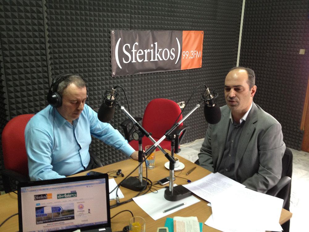 Συνέντευξη προέδρου ΔΕΥΑΑ κ. Γεώργιου Οζαινώδη στο Sferikos FM 99,3 την Πέμπτη 23/2/2012 το πρωί