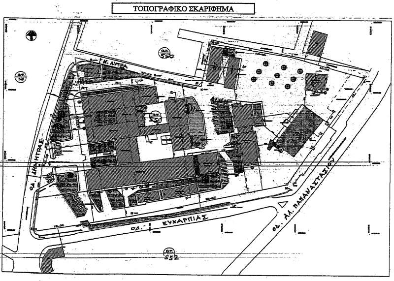 Τοπογραφικό Παλιού Νοσοκομείου