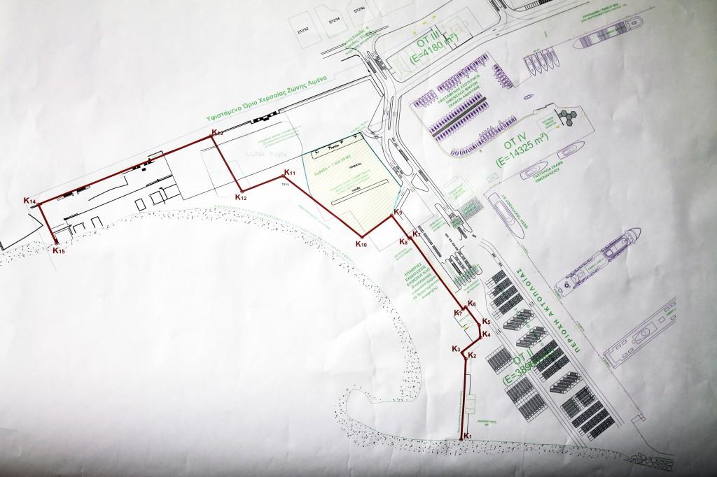Σχέδιο Τοπογραφικού Προγραμματικής Σύμβασης ΟΛΑ-Δήμου (9/4/2012)