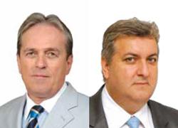 κ.κ. Ζητάκης και Κοζάρης, πρόεδρος και αντιπρόεδρος του Πολυκοινωνικού