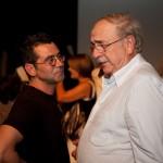"""Μετά την πρεμιέρα της παράστασης """"Ο καλός άνθρωπος του Σετσουάν"""" (17/09/2009) (διακρίνεται ο κ. Γιάννης Λασκαράκης)"""