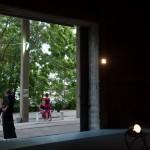 """Το θέατρο στην πρώτη αποθήκη ΕΑΣ στο Τέρμα Ρόδου πριν την παράσταση """"Το Γαϊτανάκι Του Έρωτα"""" (24/06/2012)"""