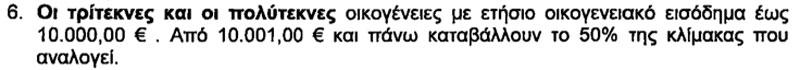 Τροφεία Παιδιών Τριτέκνων και Πολύτεκνων (πριν την τροποποίηση από το Δ.Σ. της 3/9/2012)