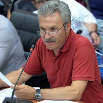 Σαράντης Δημητριάδης, ομότιμος καθηγητής Γεωλογίας στο Τμήμα Ορυκτολογίας-Πετρολογίας-Κοιτασματολογίας του Πανεπιστημίου Θεσσαλονίκης (Δ.Σ. Αλεξ/πολης, 1/10/2012)