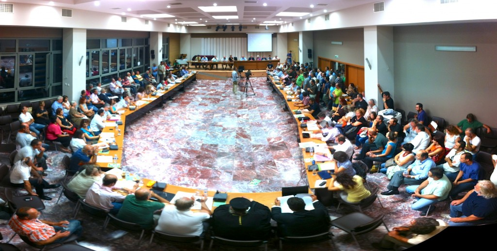 Συνεδρίαση Περιφερειακού Συμβουλίου για γνωμοδότηση επί της Μελέτης Περιβαλλοντικών Επιπτώσεων για το έργο «Μεταλλευτικές Εγκαταστάσεις και Εγκαταστάσεις προς παραγωγή χρυσού στο Πέραμα της Π.Ε. Έβρου» της εταιρίας «Χρυσωρυχεία Θράκης Α. Ε.» (3/10/2012)