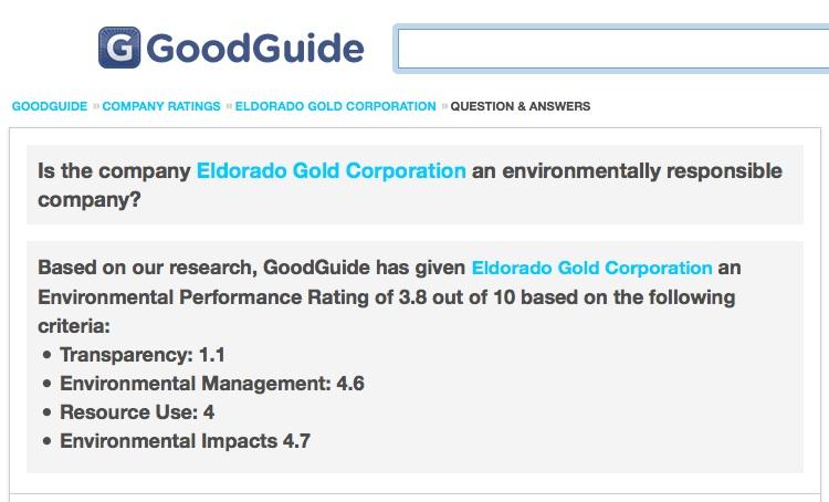 Είναι η Eldorado Gold Corporation μία περιβαλλοντικά υπεύθυνη εταιρεία;