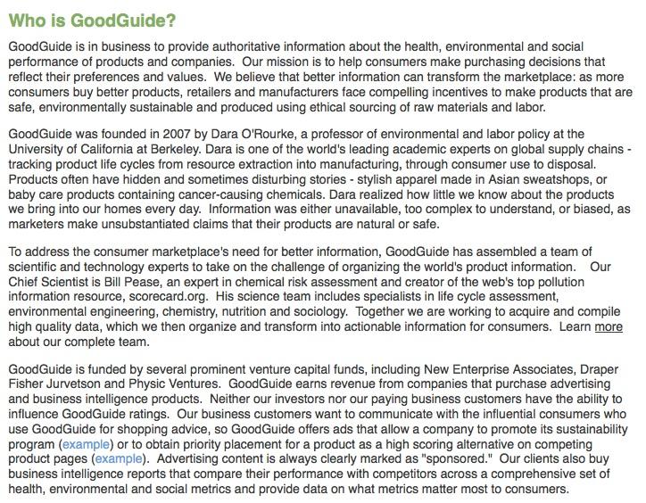 Ποιά είναι η GoodGuide;