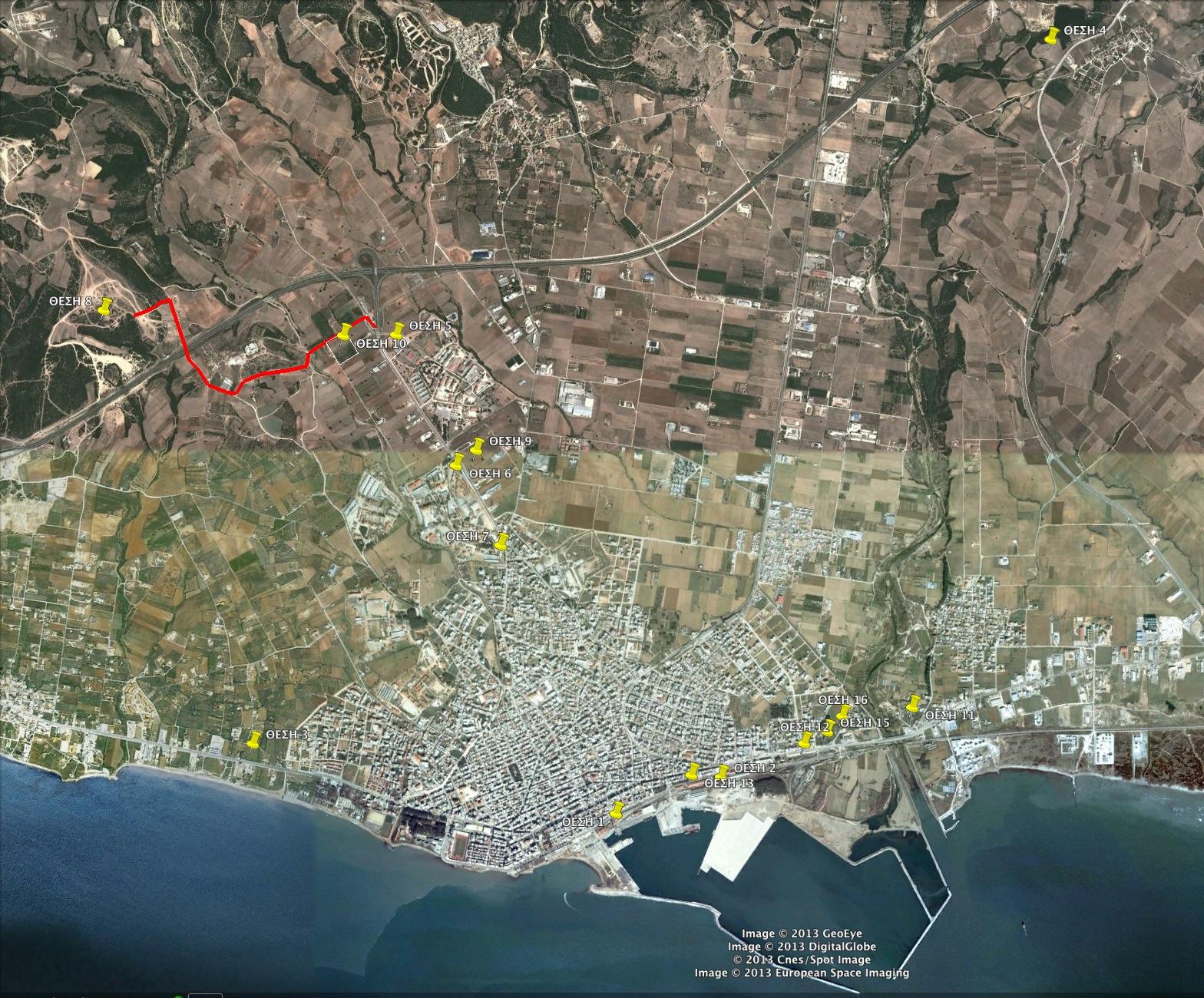 Προτεινόμενες χωροθετήσεις ΚΤΕΛ (ΔΣ 17/01/2013)
