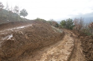 Παράνομες διανοίξεις δρόμων στο Πέραμα (Σάββατο 2/2/2013)