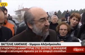 Δηλώσεις Λαμπάκη στην ΕΤ3 στο συλλαλητήριο στη Μεγάλη Παναγιά Χαλκιδικής την Κυριακή 24/02/2013