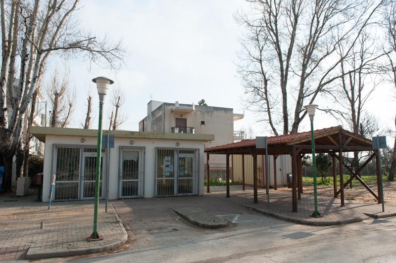 Πάρκο Κυκλοφοριακής Αγωγής - Κτίσμα και μεταλλικός οικίσκος