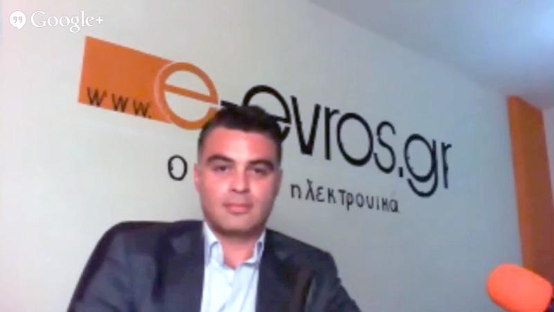 Συνέντευξη Νίκου Τζανίδη στο e-evros.gr (31/3/2014 21:30)