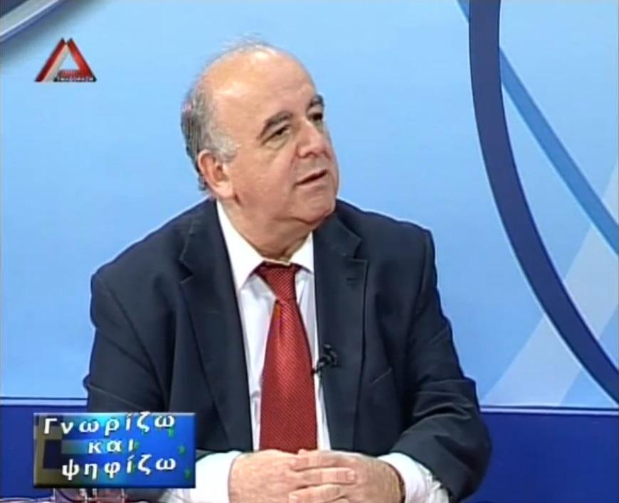 Απόστολος Φωτιάδης, τελευταία συνέντευξη πριν την κάλπη (16/5/2014 22:08, ΔέλταTV)