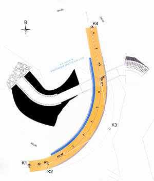 Οριζοντιογραφία οδού Αύρας-Αλεξανδρούπολης