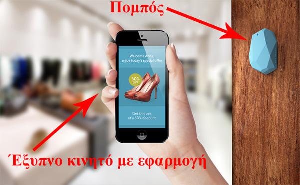 Πομποί και εφαρμογές έξυπνων κινητών στην πράξη (η λύση της εταιρείας Estimote)