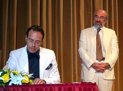 Ο πρόεδρος του Δ.Σ. από 21/9, κ. Κώστας Γκοτσίδης στην τελετή ορκομωσίας των μελών του ΔΣ την 25/08/2014
