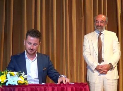 Ο κ. Στυλιανός Βραχιόλογλου, αντιδήμαρχος Προγραμματισμού, Καινοτομίας, Επιχειρηματικότητας, Αγοράς & Αθλητισμού από 16/9, στην τελετή ορκομωσίας των μελών του ΔΣ την 25/08/2014