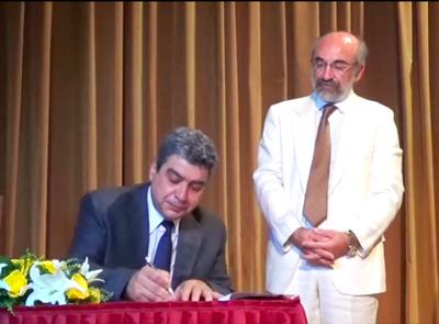 Ο κ. Χρήστος Γερακόπουλος, αντιδήμαρχος Τεχνικών Υπηρεσιών & Υπηρεσίας Δόμησης από 16/9, στην τελετή ορκομωσίας των μελών του ΔΣ την 25/08/2014
