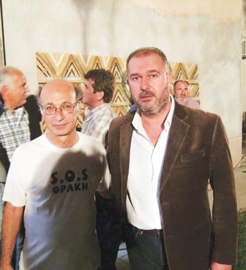 Αριστερά ο κ. Ανέστης Στρατιάδης, μέλος της Διανομαρχιακής, και δεξιά ο νέος δήμαρχος Σαπών κ. Γιάννης Σταυρίδης.