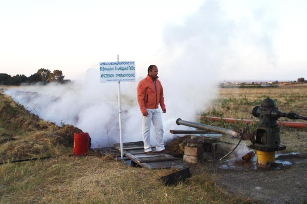Ο αντιδήμαρχος Τραϊανούπολης, Ενέργειας και Φυσικών Πόρων, κ. Γιάννης Φαλέκας στο γεωθερμικό πεδίο Άνθειας-Αριστήνου