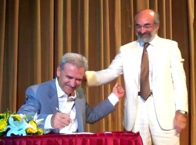 Ο νέος πρόεδρος της Τ.Ι.Ε.Δ.Α. Α.Ε. και πρώην δήμαρχος Αλεξανδρούπολης, κ. Τριαντάφυλλος Αρβανιτίδης στην τελετή ορκομωσίας των μελών του ΔΣ την 25/08/2014