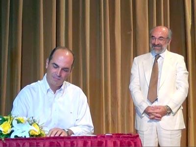 Ο κ. Γεώργιος Ουζουνίδης, εντεταλμένος δημοτικός σύμβουλος δημάρχου από 29/9, στην τελετή ορκομωσίας των μελών του ΔΣ την 25/08/2014