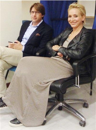 Η κ. Δήμητρα Μπαΐρα με το Συμπαραστάτη του Δημότη και της Επιχείρησης, κ. Χρήστο Βασματζίδη, την ημέρα επανεκλογής του δευτέρου (13/10/2014)
