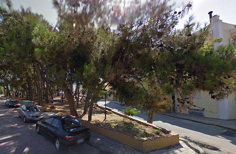Άλσος Παπαναστασίου & Πατριάρχου Κυρίλλου (Ιούλιος 2013 - Google Street View)