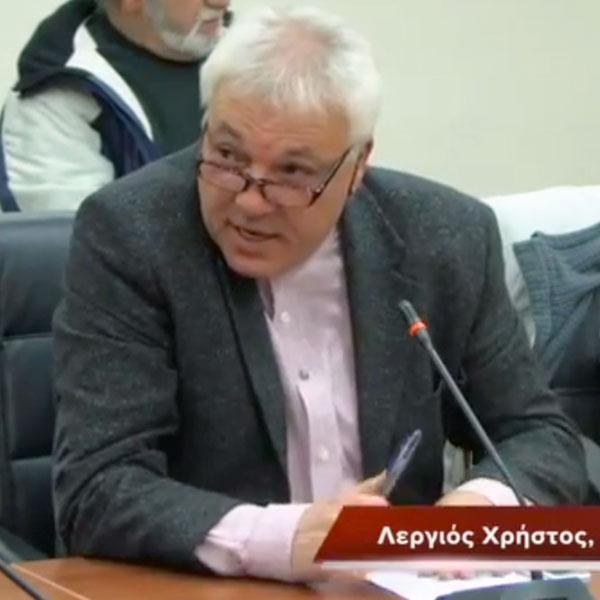 Λεργιός Χρήστος, υποψήφιος δημοτικός σύμβουλος Λαϊκής Συσπείρωσης Αλεξανδρούπολης (19/3/2014, παρουσίαση 63 υποψηφίων)