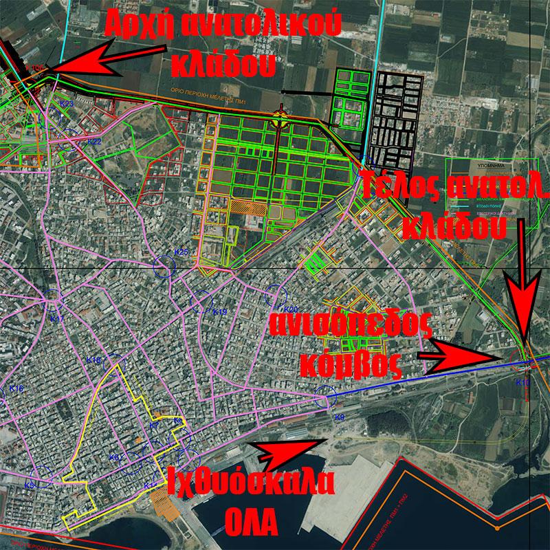 Ανατολικός Κλάδος Περιφερειακής Οδού (από Ηροδότου μέχρι γέφυρα Μαΐστρου)