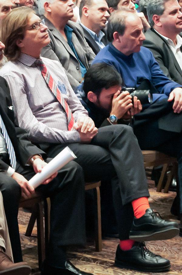 Ο διοικητής του ΠΓΝΕ κ. Δημήτρης Λαζόπουλος στην ομιλία Τσίπρα στην Αλεξανδρούπολη (Κυριακή 21/12/2014)