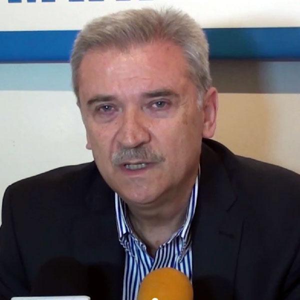 Ο κ. Τριαντάφυλλος Αρβανιτίδης, πρόεδρος της ΤΙΕΔΑ ΑΕ (και πρώην δήμαρχος Αλεξανδρούπολης) την ημέρα παρουσίασης της υποψηφιότητάς του από τη δήμαρχο κ. Λαμπάκη (3/3/2014)