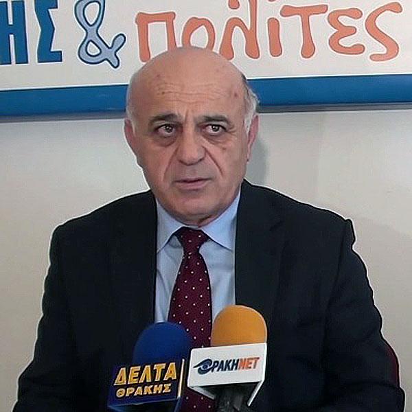 Ο κ. Γιώργος Παντελίδης στις 15/1/2014 την ημέρα παρουσίασης της υποψηφιότητάς του με το συνδυασμό Πόλη και Πολίτες
