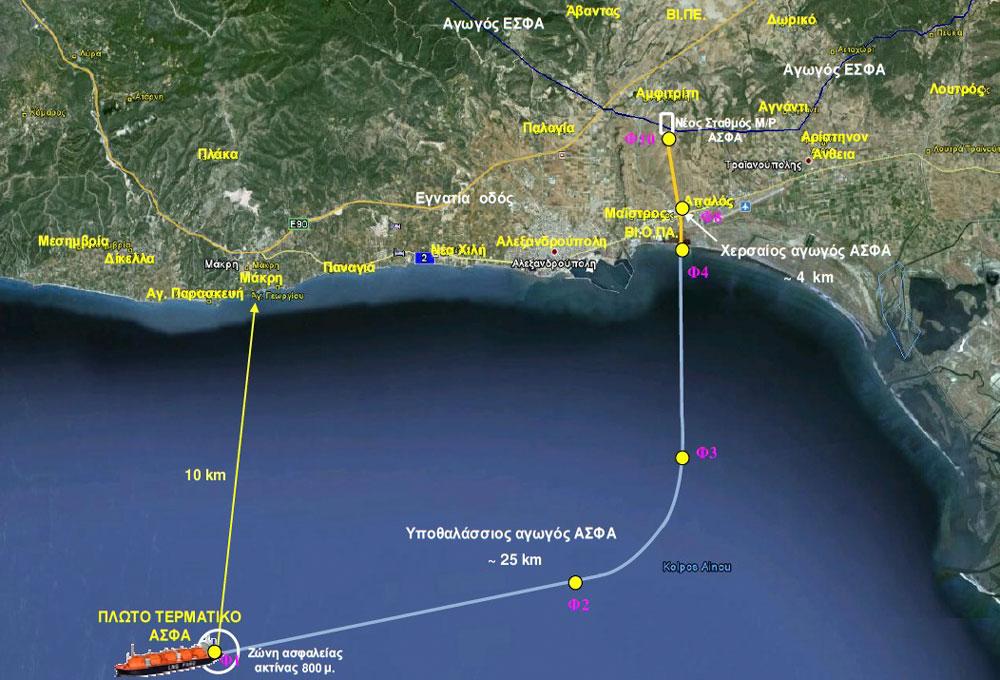 Επένδυση υγροποιημένου φυσικού αερίου ΑΣΦΑ Αλεξανδρούπολης (πηγή γραφικού: ΑΔΑ: ΒΕ2Ψ0-ΦΥΚ)