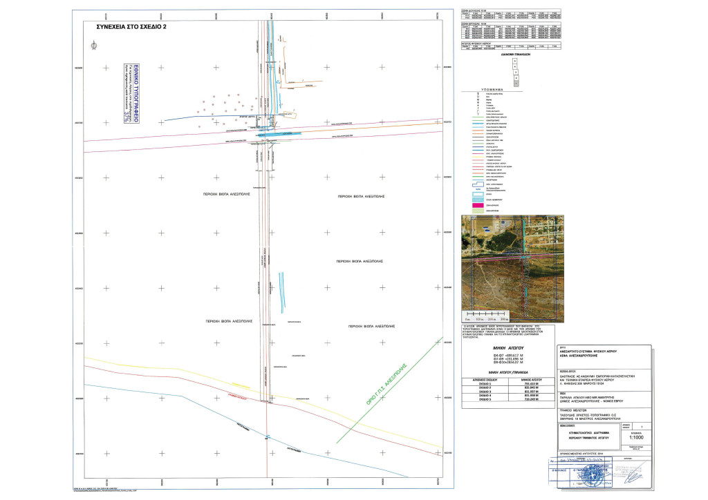 Κτηματολογικό Διάγραμμα - Σχέδιο 1 - Χερσαίου Τμήματος Αγωγού ΑΣΦΑ Αλεξανδρούπολης (από ΦΕΚ Β' 3528/30.12.2014)