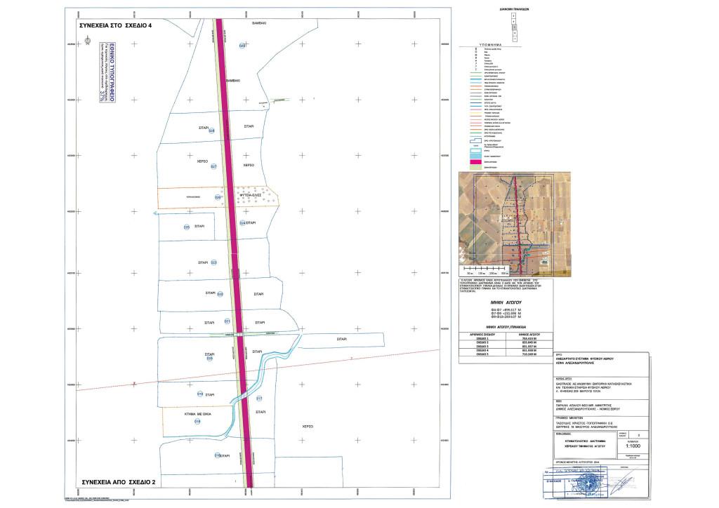 Κτηματολογικό Διάγραμμα - Σχέδιο 3 - Χερσαίου Τμήματος Αγωγού ΑΣΦΑ Αλεξανδρούπολης (από ΦΕΚ Β' 3528/30.12.2014)