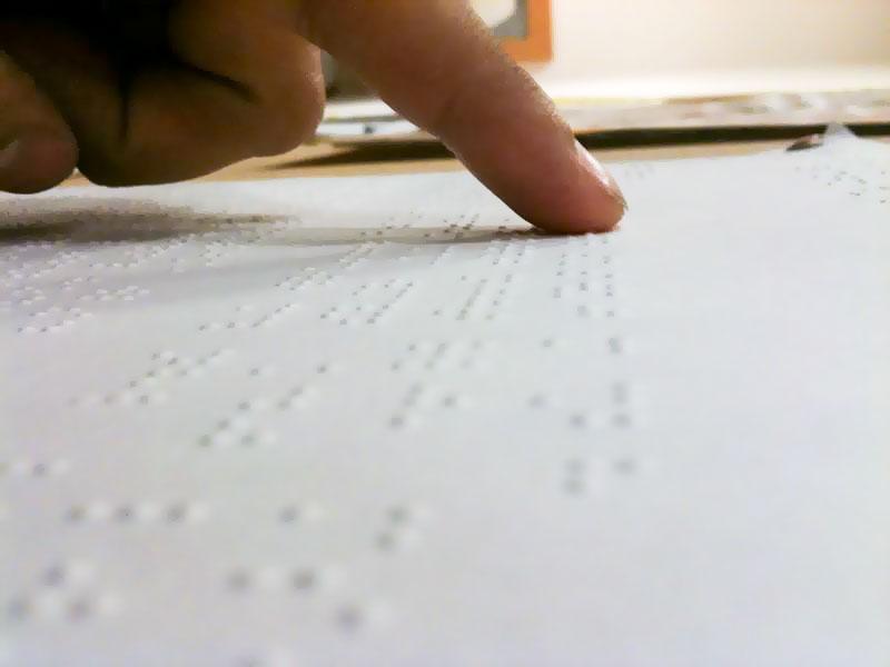Γραφή Braille (πηγή φωτό: commons.wikimedia.com)