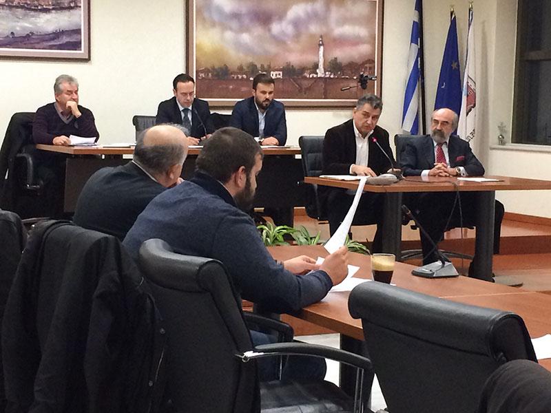 Ο διευθύνων σύμβουλος της ΤΡΕΝΟΣΕ κ. Αθανάσιος Ζηλιασκόπουλος παρών στο δημοτικό συμβούλιο της Αλεξανδρούπολης (9/2/2015)