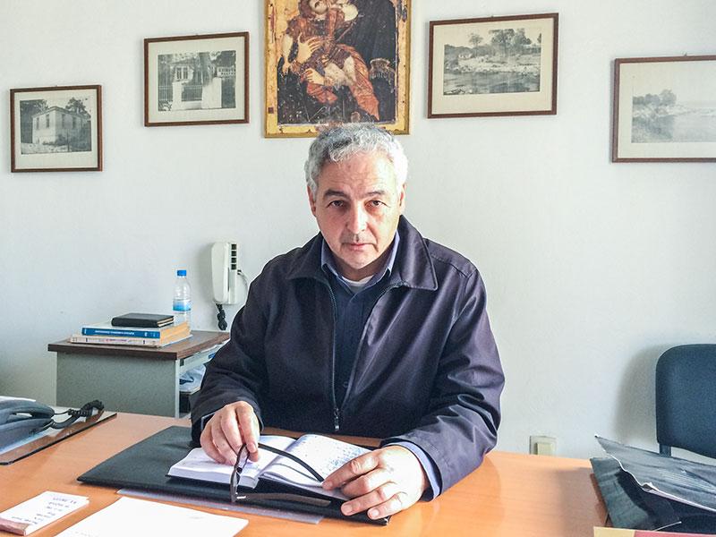 Χατζηαθανασίου Δημήτριος, πρόεδρος Τοπικής Κοινότητας Μάκρης (3/3/2015 στο Κοινοτικό Κατάστημα Μάκρης)