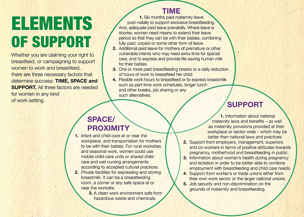WABA World Breastfeeding Week Elements of Support (1-7 August 2015)