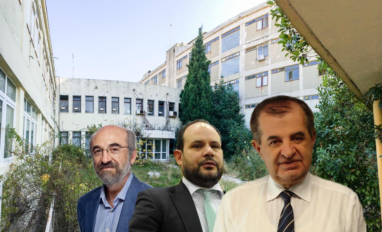 Υπόθεση αξιοποίησης παλιού νοσοκομείου Αλεξανδρούπολης - στη λύση ΣΔΙΤ παραπέμπει ο κ. Παυλίδης το δήμαρχο κ. Λαμπάκη (στο κέντρο ο ε.γ. ΣΔΙΤ κ. Μαντζούφας)