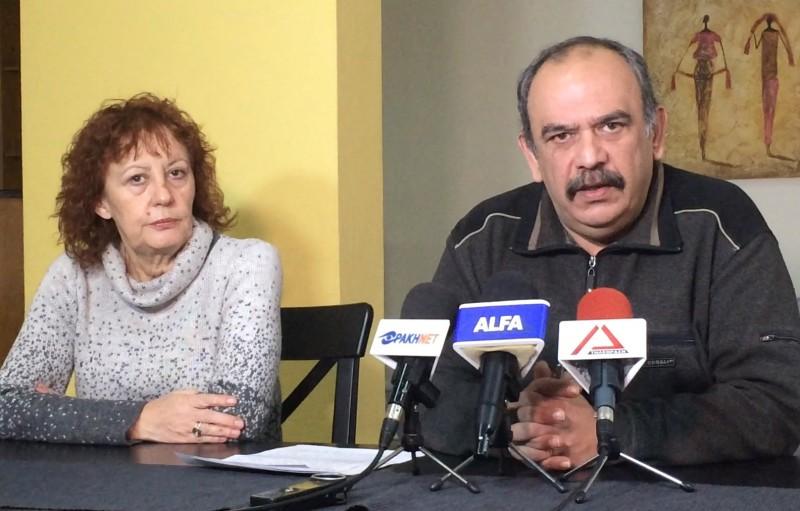 Σάββας Δευτεραίος & Φανή Τρέλλη στη συνέντευξη τύπου της Λαϊκής Συσπείρωσης Αλεξανδρούπολης τη Δευτέρα 14/12/2015 το μεσημέρι