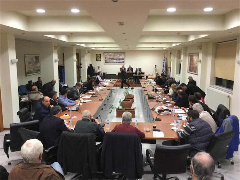 Γενική άποψη του πρώτου, πανηγυρικού ΔΣ του δήμου Αλεξανδρούπολης για το 2016 (8/1/2016 18:39)