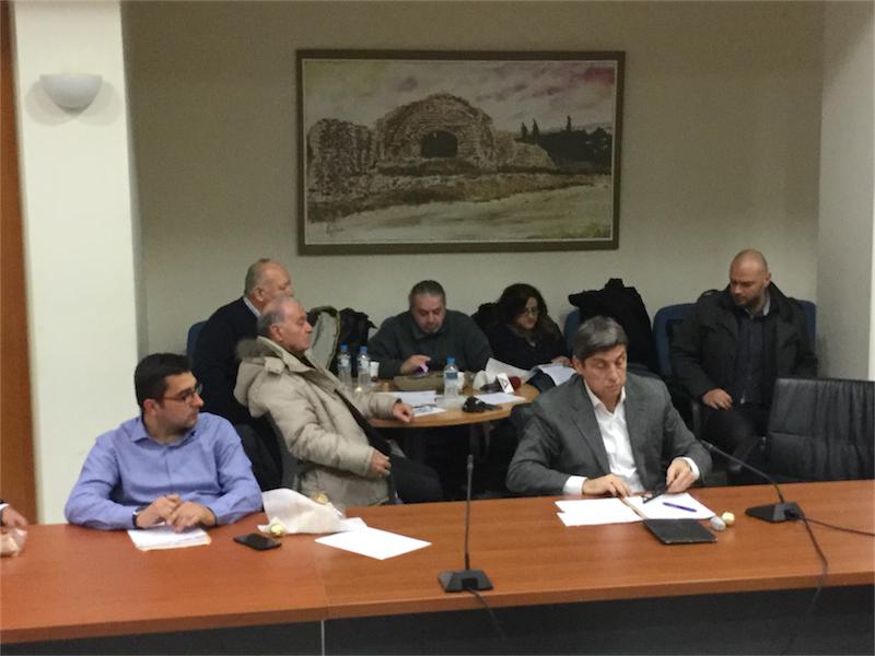 Άποψη δημοσιογραφικών... θεωρείων του πρώτου, πανηγυρικού ΔΣ του δήμου Αλεξανδρούπολης για το 2016 (8/1/2016 18:39)