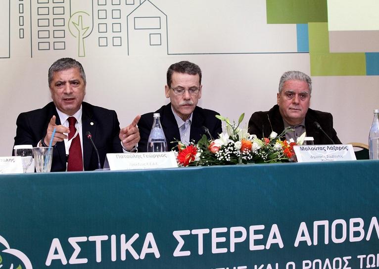 Γιώργος Πατούλης, δήμαρχος Αμαρουσίου και πρόεδρος της ΚΕΔΕ (συνέδριο ΚΕΔΕ για Διαχείριση Στερεών Αποβλήτων στην Αλεξανδρούπολη, 16/1/2016)