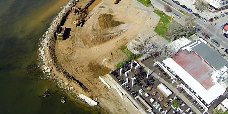 Εργασίες κατασκευής τοιχείου αντιστήριξης στην περιοχή της Αργούς (πηγή φωτό: από βίντεο της παράταξης Πόλη & Πολίτες της 11/4/2014)