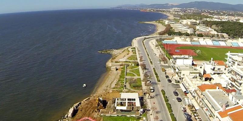 Εργασίες κατασκευής τοιχείου αντιστήριξης στην περιοχή Απολλωνιάδας (πηγή φωτό: από βίντεο της παράταξης Πόλη & Πολίτες της 11/4/2014)